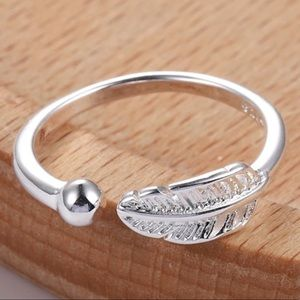 Dainty Silver Feather Ring Toe Rings Knuckle Ring